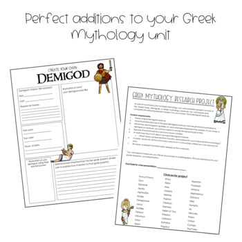 Greek Mythology Projects- 2 Projects in 1 Resource!