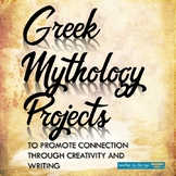 Greek Mythology Projects: Three Options ALL Include Writing & Artistic Elements!