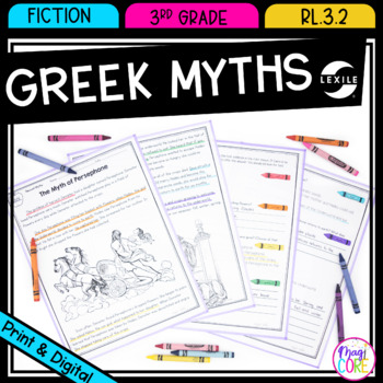 Recount Stories: Greek Myths - 3rd Grade RL.3.2