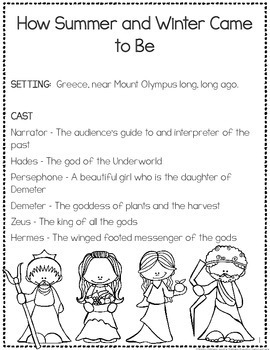 Greek Mythology Reader's Theater {Leveled Parts}