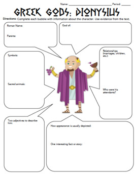 Worksheet: Greek Mythology