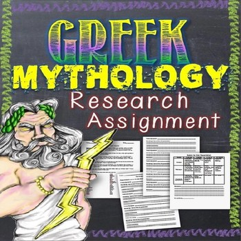 Greek Mythology Research Assignment