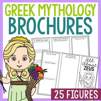 24 Greek Mythology Research Brochure Templates, Mini Book, Interactive Notebook