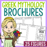 24 Greek Mythology Research Brochure Templates, Mini Book,