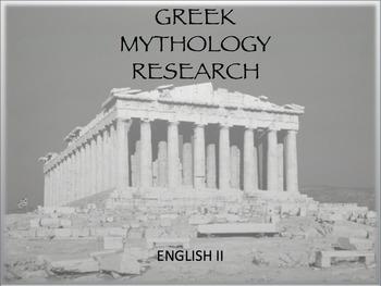 Greek Mythology Research Essay