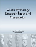 Greek Mythology Research Essay and Presentation
