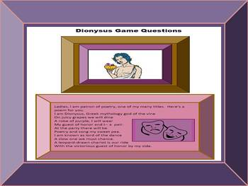 Greek Mythology Research Game:  Guest of Honor at Dionysus' Party, CCSS Aligned