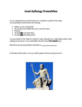 Greek Mythology Research Presentation