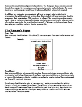 Greek Mythology Research Report and Oral Presentation