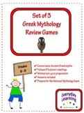 Greek Mythology Review Games - Set of 3
