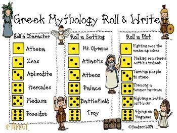 Greek Mythology Roll & Write