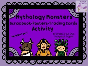 Greek Mythology Scrapbook/Trading Cards/Posters Activity (MONSTERS EDITION)