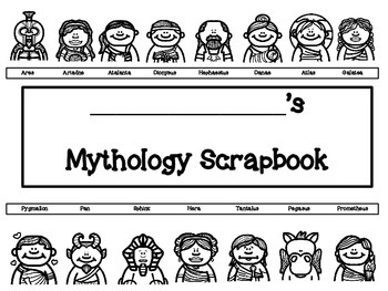 Greek Mythology Scrapbook/Trading Cards/Posters Activity (Version Three)
