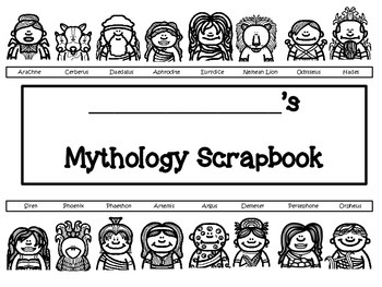 Greek Mythology Scrapbook/Trading Cards/Posters Activity (Version Two)