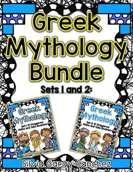 Greek Mythology Set 1 and Set 2 Staggered Booklets Bundle