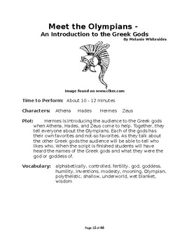 Greek Mythology - Small Group Reader's Theater