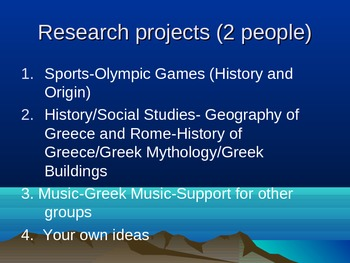 Greek Mythology Special Project-Grouping by Interest