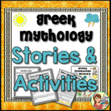 Greek Mythology Stories and Activities (Print and Digital)