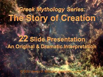 Greek Mythology Story of Creation Common Core Rigor Literature Powerpoint