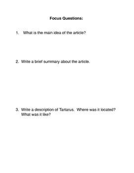 Greek Mythology: Tartarus
