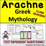 The Story of Arachne with Text Dependent Questions for Greek Mythology