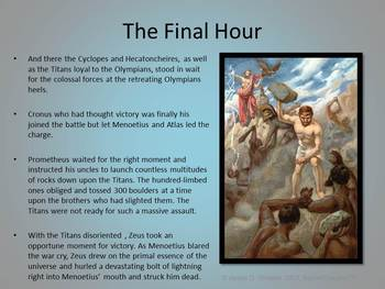 Greek Mythology The Titanomachy PowerPoint Common Core