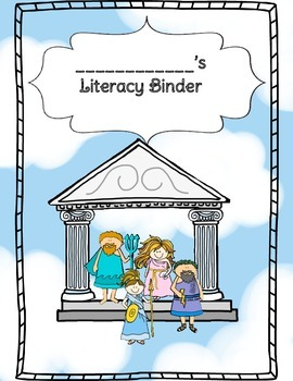 Greek Mythology Themed Reading Notebook