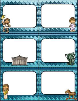 Greek Mythology Themed Schedule/Objective Cards