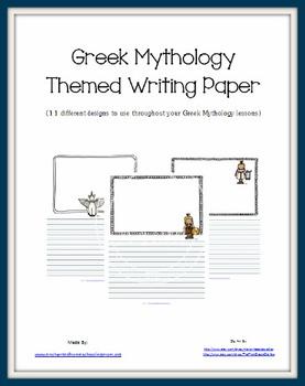 Greek Mythology Themed Writing Paper Set