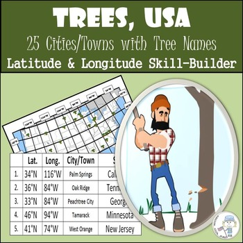 Latitude and Longitude Activity - Trees, USA