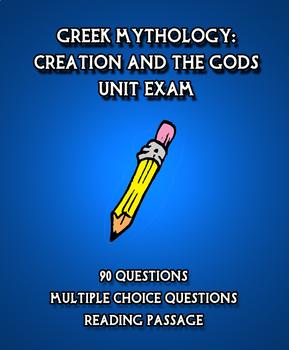 Greek Mythology Unit Exam:  Creation and the Gods