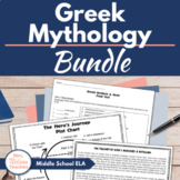 Greek Mythology Unit - Great for Middle School Students!