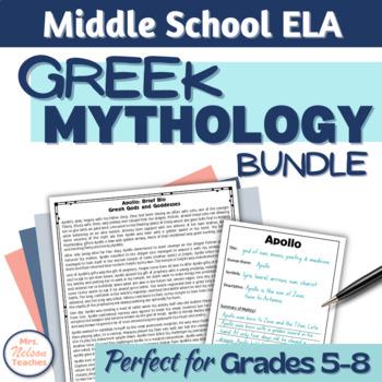 Mythology teaching resources teachers pay teachers greek mythology unit great for middle school students fandeluxe Gallery
