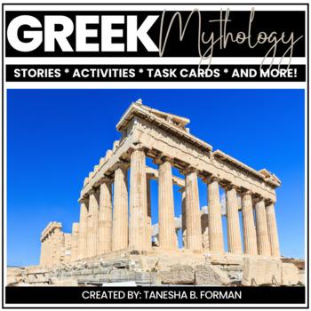 Greek Mythology Unit – Stories, Activities, Task Cards & More!