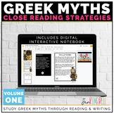 Greek Mythology Unit | Close Reading Passages | Distance Learning