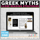Greek Mythology Unit: Using Close Reading to Dig Deeper