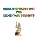 Greek Mythology Unit for Elementary Students (Gods, Monste