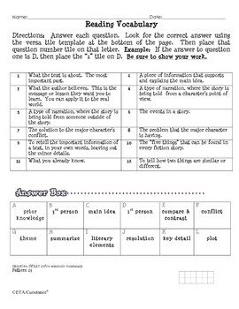 Greek Mythology Versatiles Worksheet