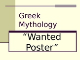 Greek Mythology Wanted Poster Project