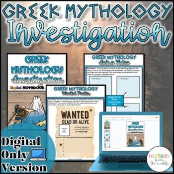 Greek Mythology WebQuest {Digital}