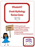 Greek Mythology Whodunit Review Game