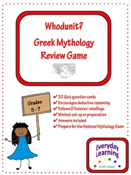 Greek Mythology Whodunit Review Game