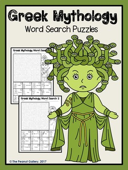 Greek Mythology Word Search Puzzles