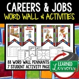 Career Exploration Word Wall Pennants & Activity Pages (Ca