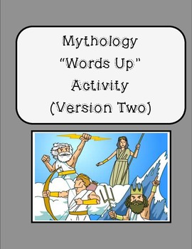 "Greek Mythology ""Words Up"" Activity - Version Two!"