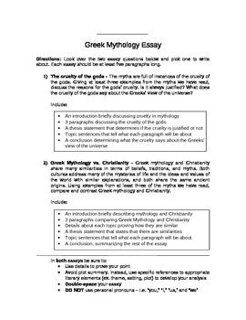 Greek Mythology Worksheets