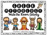 Greek Mythology Write the Room Review Activity