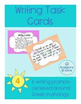 Greek Mythology Writing Task Cards