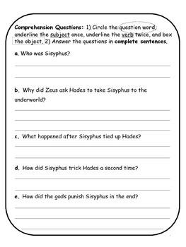Greek Mythology for ESL: The Story of Sisyphus (CCSS Aligned)