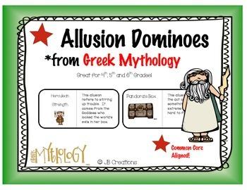 Greek Mythology game: Allusion Dominoes (4th grade)